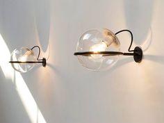 Wall lamps by famous Italian designer Gino Sarfatti (1912 - 1985).