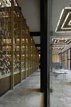 nyu bobst library pixel veil | interiors | pinterest | architecture