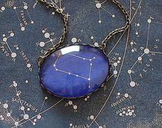 Gemini Constellation Necklace. Gemini Zodiac Necklace. Zodiac Sign Necklace. June Birthday. Personalized Zodiac. Constellation Pendant.