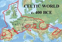 ) CELTIC WORLD c. 400 BCE ------- The first European Union had one language and one culture. Keltae probably meant 'shields' related to an Old Celtic root *kel- 'cover' and cognate with Germanic *s-kelto- 'shield'. Roman History, European History, British History, World History, Ancient History, European Map, Ancient Aliens, American History, Celtic Nations