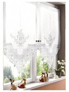 53 ideas kitchen window shutters shabby chic for 2019 Cafe Curtains, Curtains With Blinds, Bathroom Curtains, Kitchen Curtains, Drapes Curtains, White Curtains, Valances, Drapery, Rideaux Design