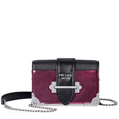 d34731a21013 Shop for Small Leather Crossbody Bag- Hibiscus Black by Prada at JOMASHOP  for only
