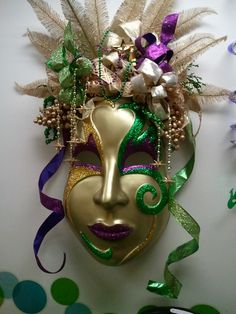 Mardi Gras party mask