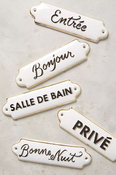 You belong to those groups people who rarely worry about glamour and over-the-top designs for your home, then this is definitely your current cup of joe. Look at this article for 5 diy home decor ideas on budget. Bedroom Door Signs, Bedroom Doors, Master Bedroom, French Home Decor, Diy Home Decor, French Bathroom Decor, Bathroom Wall, Coastal Decor, Home Buying Tips
