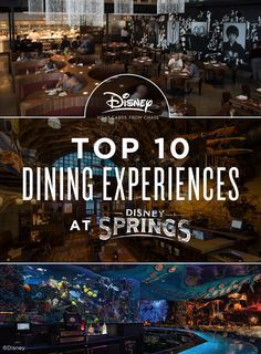 """The beloved Walt Disney World® Resort shopping and dining district, Downtown Disney®, is now part of an epic destination: Disney Springs™, combining popular fan-favorites with brand-new offerings. With so many restaurants to pick from, """"Where should we eat?"""" suddenly feels like choosing an adventure! With this Disney Springs™ dining guide, you can let your taste for an experience lead you to a truly unforgettable spot where the meal is just the beginning."""