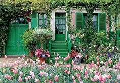 One door was devoted to Monet's own use. It leads directly to his first studio and to the stairs to his bedroom. It enabled Monet to go in and out without disturbing the family life. (Giverny, France)
