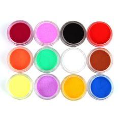 12 Colores de Acrílico del Polvo del Polvo UV Gel Diseño 3D Inclina La Decoración de Uñas de Manicura Art g6901