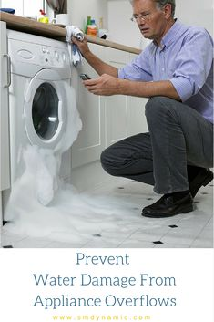 Prevent water damage from washing machine and hot water heater overflows