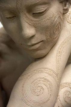 Fine Art Connoisseur - Figure, Script, Message: Sculpture By Kristine Poole