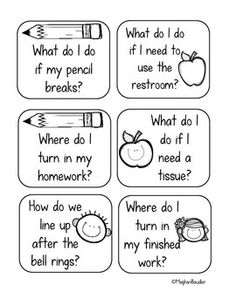 Back to School Classroom Procedure Task Cards are great for reviewing procedures! Turn it into a fun game for students!
