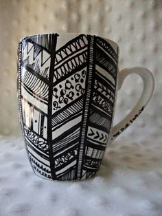 Hey, I found this really awesome Etsy listing at https://www.etsy.com/listing/160018122/aztec-feather-coffee-mug