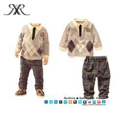 Conjunto Social Boy Camisola + Calças Tamanhos: 2-6 anos Preço: 19,50€ Por Encomenda http://www.rostore.eu/pt/190-conjunto-social-boy.html