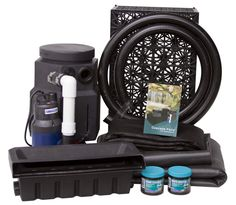 Create soothing waterfall feature without a pond in your own backyard with the PondBuilder cascading falls kit. Complete with everything you need, just add water! Checkout The Pond Guy for all your water feature supplies today! Pond Landscaping, Ponds Backyard, Landscaping With Rocks, Backyard Waterfalls, Big Backyard, Largest Waterfall, Pond Waterfall, Diy Water Feature, Building A Pond