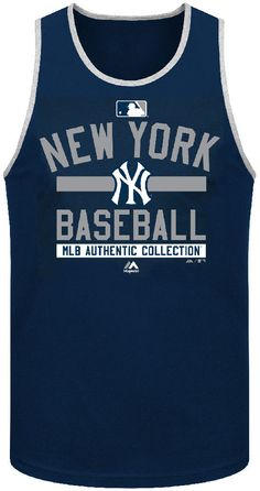 New York Yankees AC Navy Team Property Tank Top by Majestic Yankees Outfit, Yankees Gear, Yankees T Shirt, Ny Yankees, New York Yankees Apparel, Esports Logo, Big Sis, Navy, Tank Tops