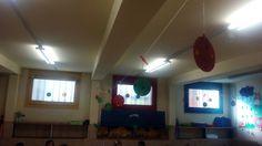 DECORACIÓ NADAL - Material: cartolina, fil,  tisores, grapadora, pintura - Nivell: INF Menjador 2015/16 Escola Pia Balmes