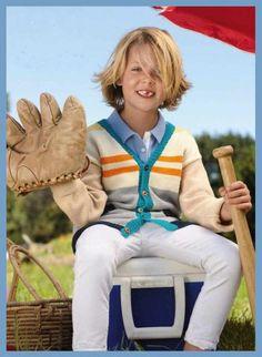 Озорные петельки: Пуловер на пуговицах для мальчика
