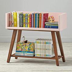 Alto Bookcase (Pink/Walnut)  | The Land of Nod