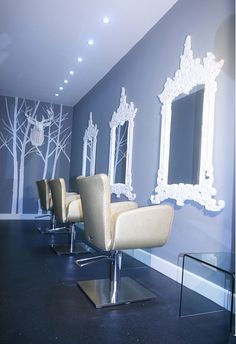 Part of the interior of the salon. love!