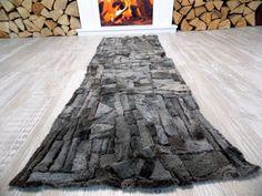 Echter Lammfellteppich T77 Läufer Kamin Schaffell Lammfellläufer Bettvorleger in Möbel & Wohnen, Teppiche & Teppichböden, Teppiche | eBay