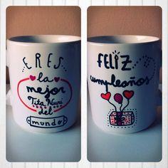 Mos-TAZA para felicitar a una amiga. SHOP ONLINE: WWW.MOS-TAZA.COM