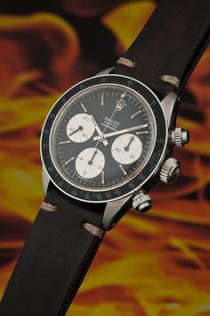 """Epitome of coolness, the Rolex Daytona ref 6263 """"Fuerza Aerea Del Peru"""""""