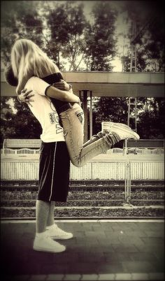 Being lifted off the ground during a hug.