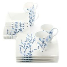 Maxwell & Williams™ 16-Piece Oriental Blossom Dinnerware Set - BedBathandBeyond.com