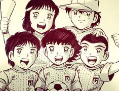 Oliver e benji Captain tsubasa Ozora Tsubasa Captain Tsubasa, Oliver E Benji, Chibi, Mikuo, New Champion, Star Wars, Death Note, Dream Team, Cartoon Network