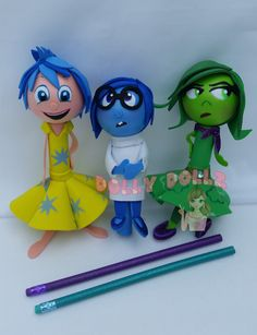 Inside Out Movie Characters, Pencil Cover, Stationary Disney, Novelty pencil, Joy, Sadness, Disgust, Inside Out Favors, Party Favors by DollyDollz on Etsy