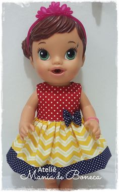 Dress for Baby Alive 12' by AtelieManiadeBoneca on Etsy