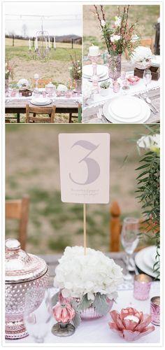 Blush wedding decor inspiration | Ceremony & Reception, Details + Decor, Flowers + Greenery, Pretty Paper | 100 Layer Cake