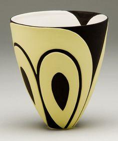 Penny Fowler • Bowl black white sharp curves