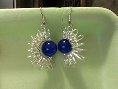 Earring in wire and beads handmade by myself