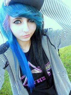 Black, Blue, and Purple. ♥