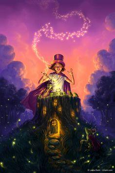Firefly Magic Print Fantasy Fine Art Nursery