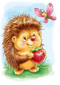 """Oh man, oh man 😀, ist das ein süßes Bild. So ein niedlicher Igel """"Nuff nuff nuff"""". Hedgehog Art, Hedgehog Drawing, Cute Hedgehog, Cartoon Pics, Cute Cartoon, Cute Images, Cute Pictures, Tatty Teddy, Whimsical Art"""