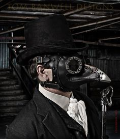 Steampunk Plague Doctor Mask Dr. Beulenpest by TomBanwell on Etsy, $475.00