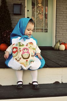 Babushka costume. This would not look good on an adult, but on a child... amazing!
