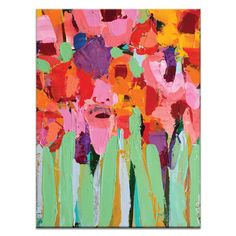 Artist Lane Field of Flowers by Anna Blatman Painting Print on Wrapped Canvas