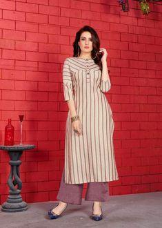 AYUSH MAKHAN MALAI DESIGNER EXOTIC BEAUTIFUL CASUAL VISCOSE RAYON KURTI WITH BOTTOM AT WHOLESALE PRICE Salwar Neck Designs, Kurta Neck Design, Kurta Designs Women, Dress Neck Designs, Blouse Designs, Latest Kurti Designs, Churidar Designs, Dress Indian Style, Indian Outfits
