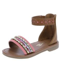 Elevate your little one's style with the fancy Lil Marley bead sandal!