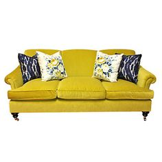 Get in my living room!! Joplin Sofa Citrus Yellow now featured on Fab.