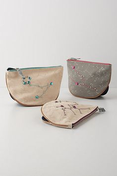 Love these Tracing Stars pouches from Anthropologie. You can purchase one specifically for your zodiac sun sign!