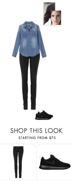 """Sem título #8042"" by gracebeckett ❤ liked on Polyvore featuring TEXTILE Elizabeth and James and NIKE"