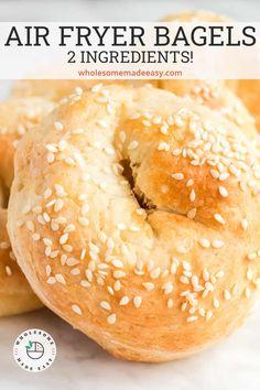 Air Fryer Oven Recipes, Air Frier Recipes, Air Fryer Dinner Recipes, Ww Recipes, Cooking Recipes, 2 Ingredient Recipes, Protein Recipes, Pastry Recipes, Bread Recipes