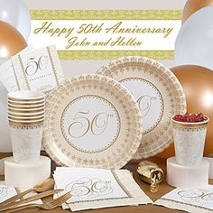 50th Anniversary Party Supplies & Decorations