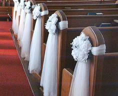 17 Ideas For Wedding Ceremony Decorations Church Stage Church Wedding Flowers, Wedding Pews, Wedding Chairs, Wedding Table, Wedding Venues, Wedding Pew Decorations, Church Aisle Decorations, Wedding Centerpieces, Wedding Favors