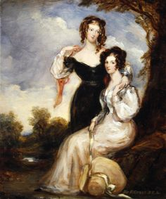 jeannepompadour:  The Countess of Chesterfield and the Hon. Mrs George Anson by Sir Francis Grant, 1831
