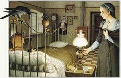 Pinocchio e la Fata Turchina, simbolo della Madre Divina - illustrazione di Roberto Innocenti www.meditazionegnostica.it