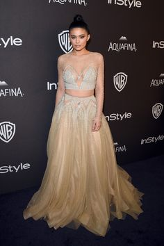 Kylie Jenner in La Bourjoisie attends The 2016 InStyle And Warner Bros. 73rd Annual Golden Globe Awards Post-Party. #bestdressed